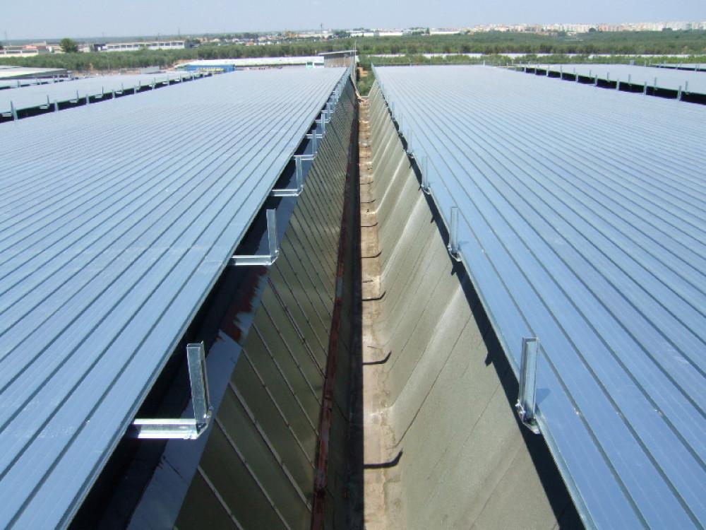 Copertura fissa in carpenteria metallica per tetti