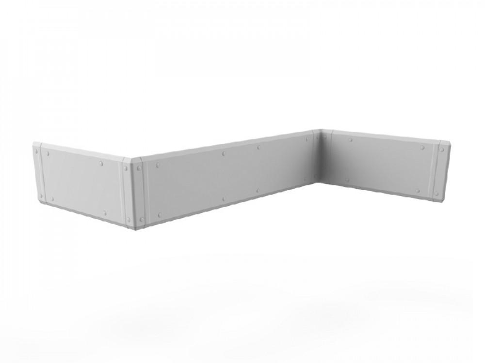 Lastra di protezione antiurto per parete a mezza altezza