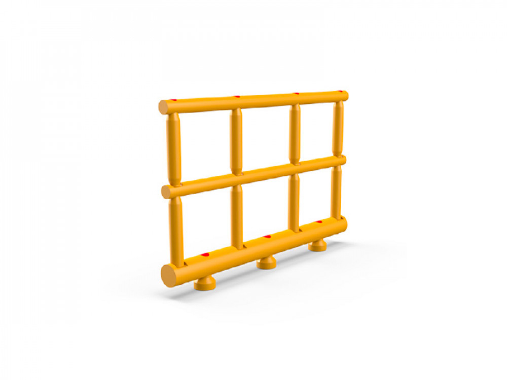 Guardrail di protezione antiurto trifilare