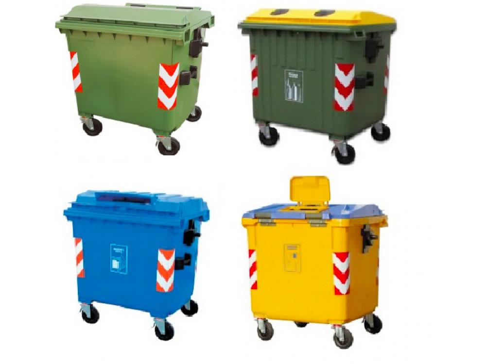Cassonetti in plastica per la raccolta differenziata dei rifiuti