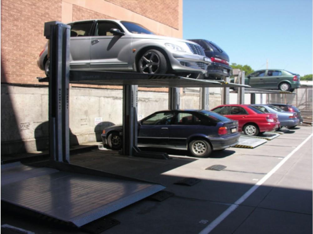 Sistema di sdoppiatori per parcheggio esterno
