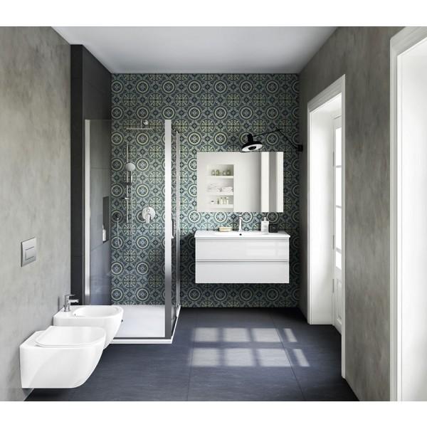 Allestimento completo bagno serie Tesi, sanitari e arredi - IDEAL ...