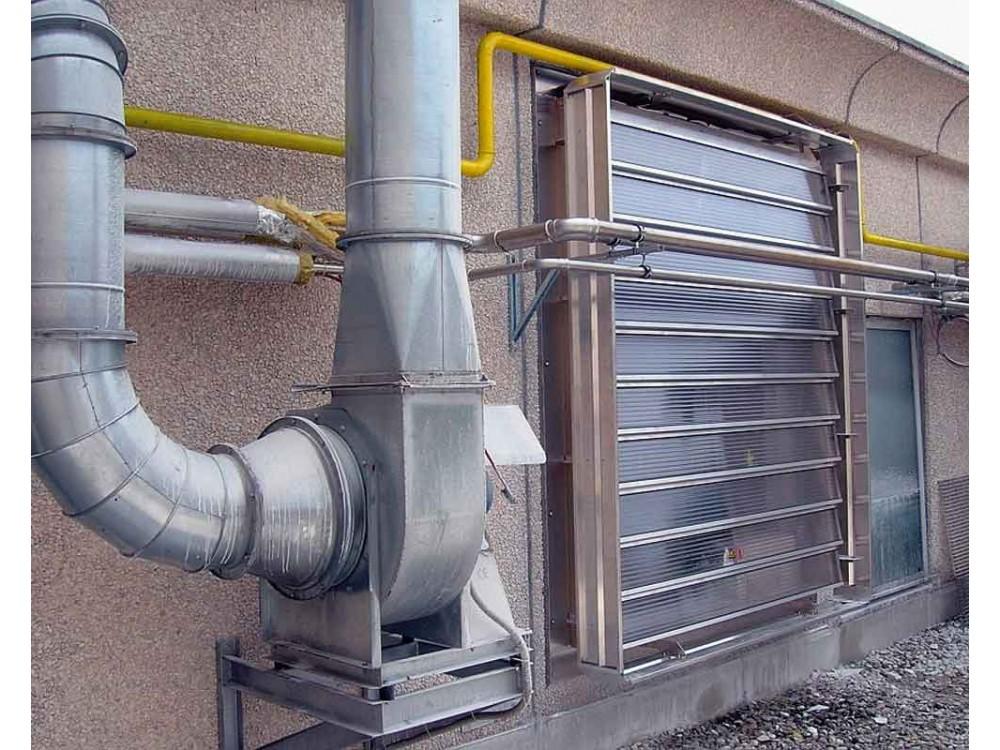 Evacuatore di fumo e calore verticale Aersmoke