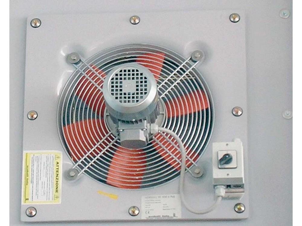 Estrattore immissore d'aria elicoidale da parete verticale
