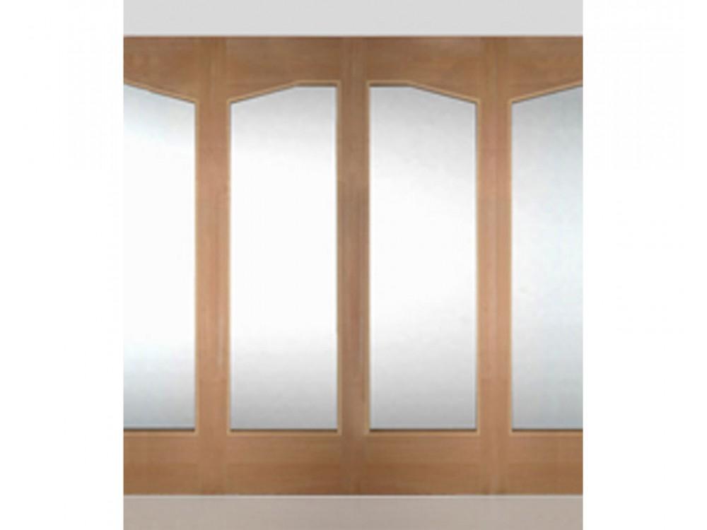 Vetrata tagliafuoco fissa in legno multistrato