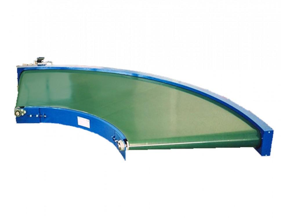 Curve a nastro per trasporto di cartoni o prodotti sfusi
