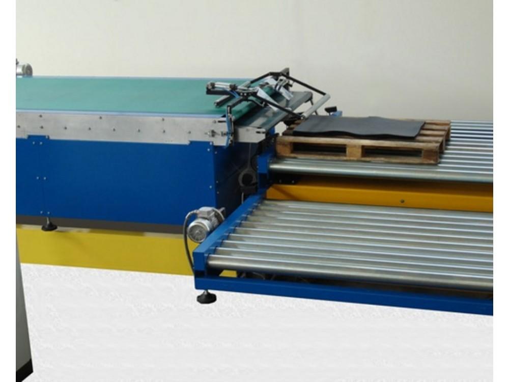 Impianto di pallettizzazione per lastre di gomma/prodotti flessibili