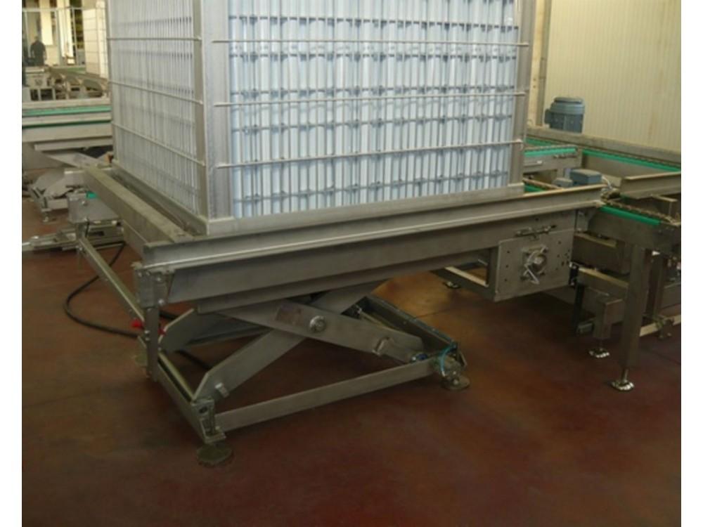 Piattaforma a pantografo in acciaio inox per carichi gravosi