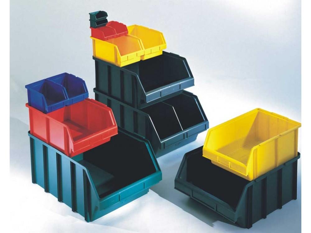 Contenitori a bocca di lupo in materiale plastico Alfa