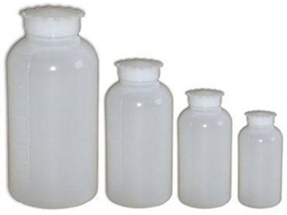 Bottiglie cilindriche in PE con tappo a vite e sottotappo