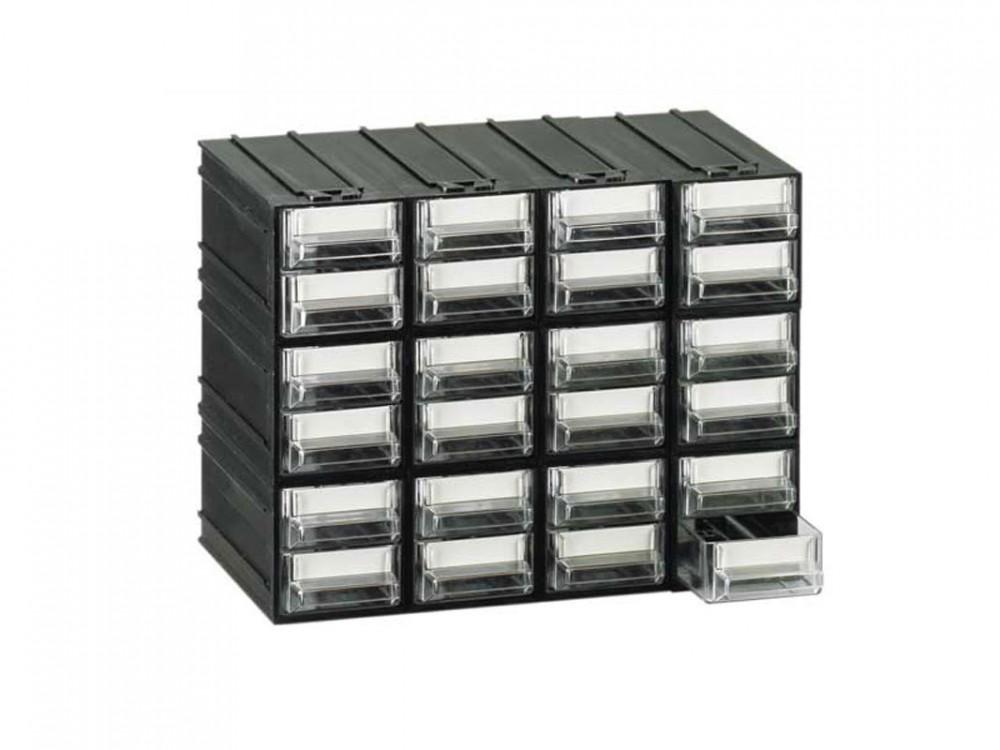 Cassettiere in plastica monoblocco, cassetti trasparenti