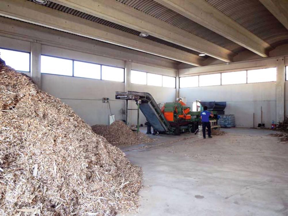 Impianto per il recupero termico da cippato a Somma Lombardo