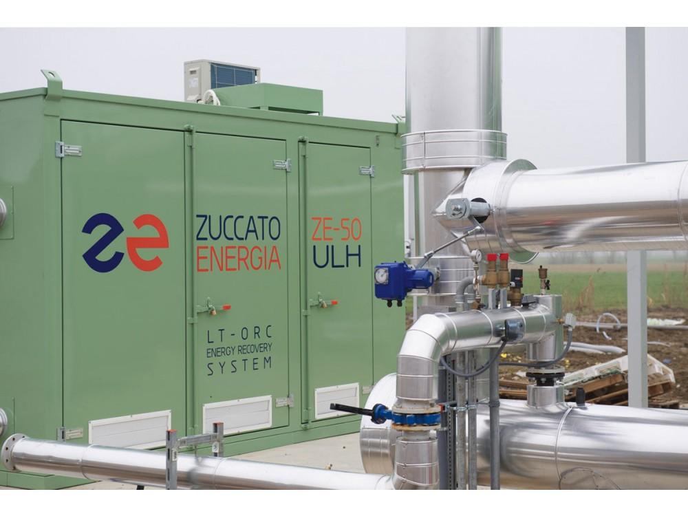 Impianto di recupero termico da camicie e fumi di motori a biogas
