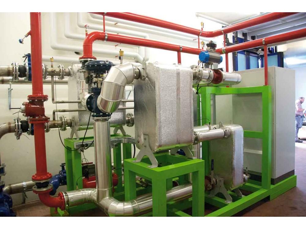 Recupero termico da motore navale alimentato a nafta