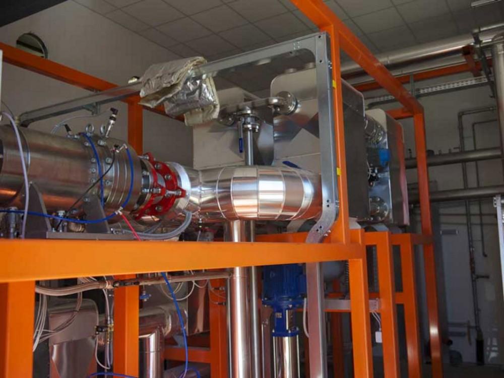 Impianto recuperatore termico da pollina installato ad Arzene