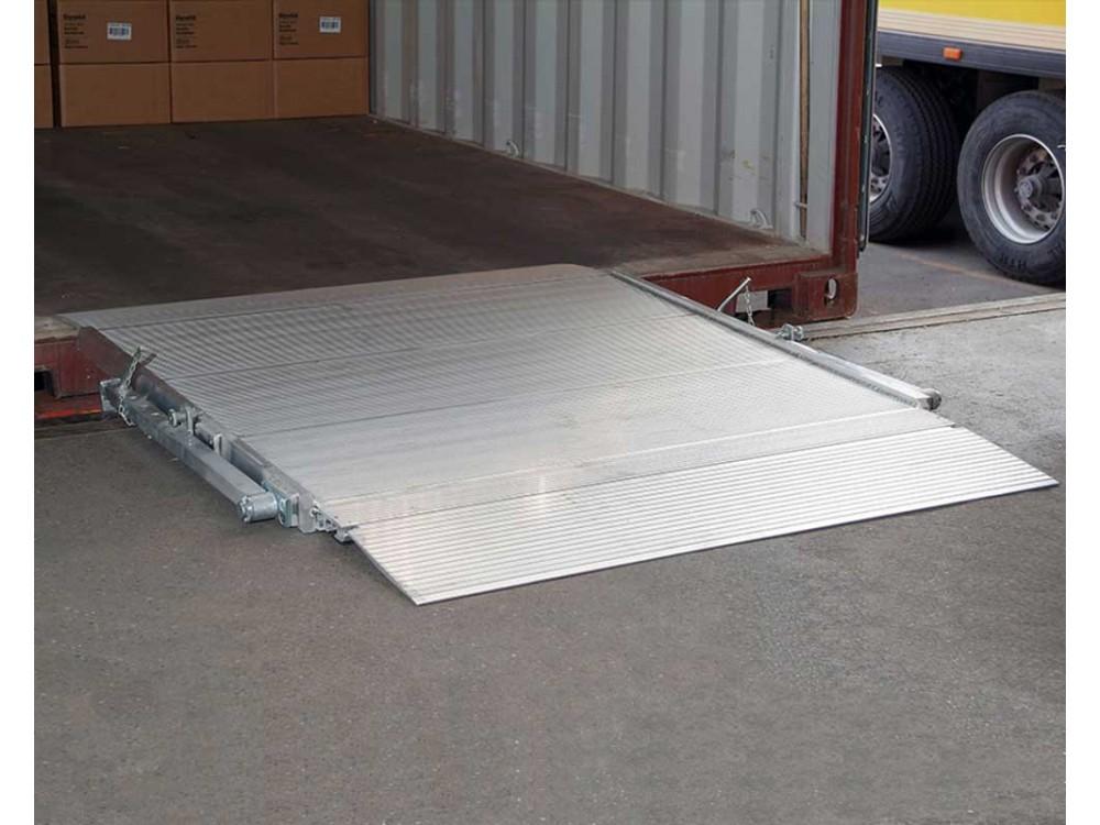 Pedana di carico a ponte mobile in alluminio
