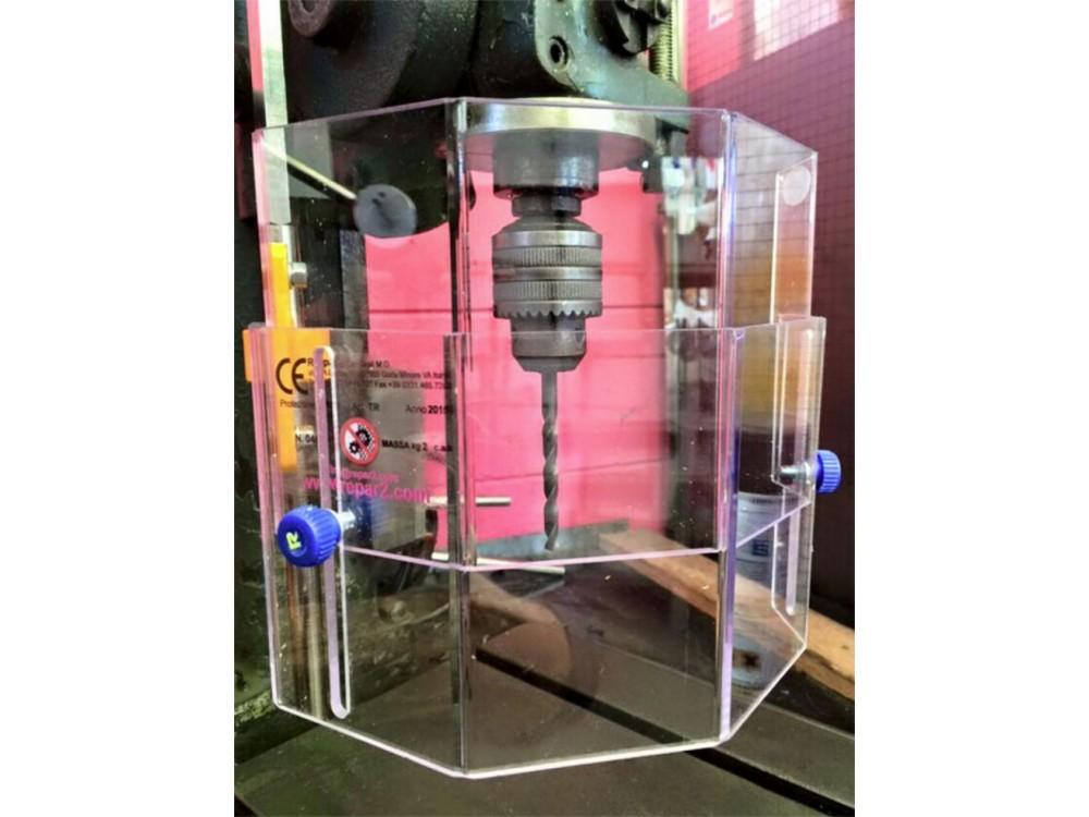 Protezione per trapano con lastra in policarbonato