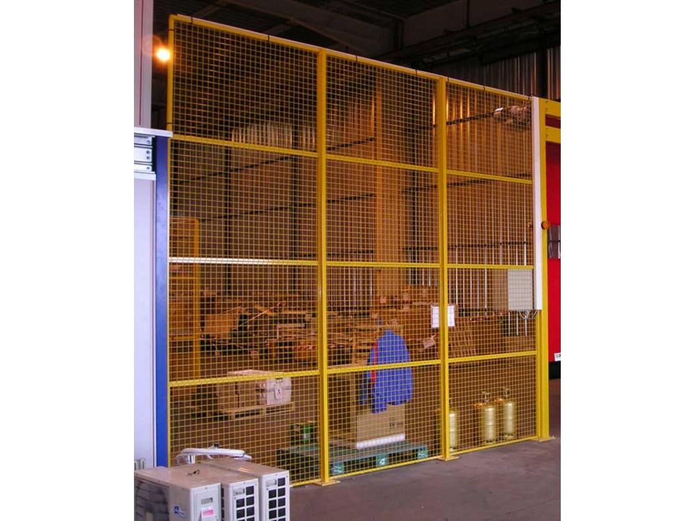 Sistemi di protezione e barriere modulari divisorie per macchine e zone lavoro