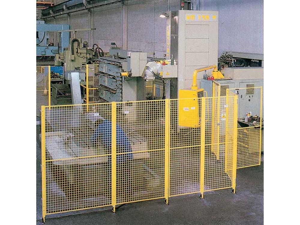 Recinzione modulare divisoria in acciaio per macchine operatrici