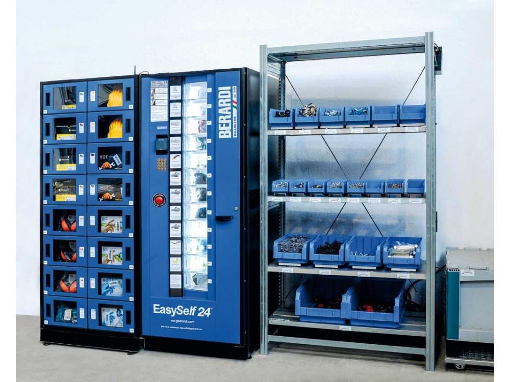 Distributore automatico con gestione di scorte e riordini